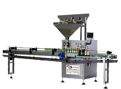 دستگاه بسته بندی قوطی پرکن چهار توزین آریا صنعت البرز